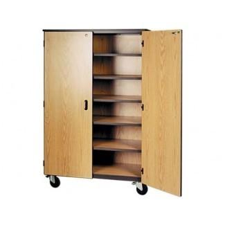 """Gabinete de almacenamiento móvil - 5 estantes, puertas de bloqueo, 72 """"H ..."""