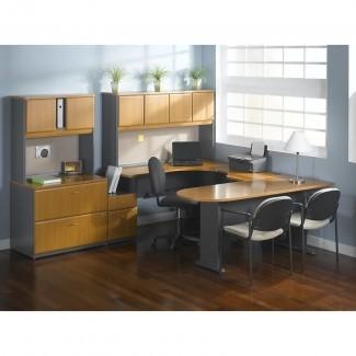 Serie A 3 piezas de escritorio en forma de L Suite de oficina