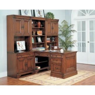 Conjunto de muebles de oficina modulares ejecutivos Warm Cherry