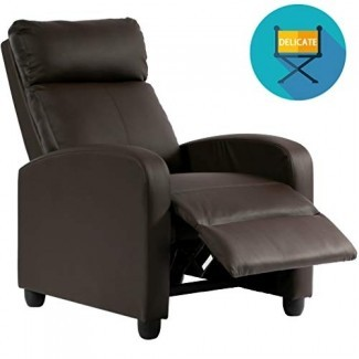 Silla reclinable PU Sofá individual Asiento reclinable moderno Asientos de cine en casa para sala de estar