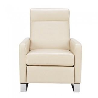 Sofá reclinable Mid Century moderno de cuero sintético tapizado ...