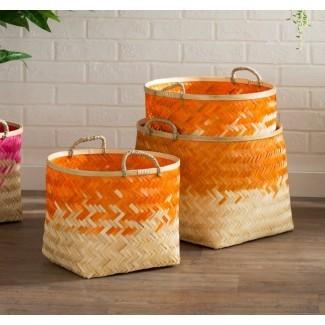 Juego de cestas decorativas de 3 piezas Molokai
