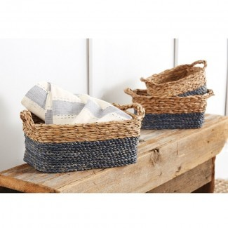 Juego de cestas de mimbre de 3 piezas Seagrass