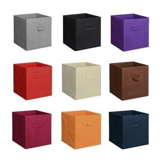 Organizador de contenedores de almacenamiento para el hogar nuevo Estante de cajas de cubos de tela ...