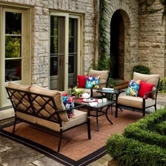 Juego de conversación Garden Treasures Vinehaven de 4 piezas para patio ...