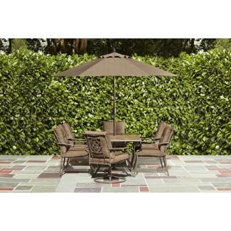 Muebles: impresionante seto de vida con patio de tesoros de jardín ...