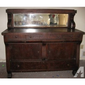 Aparador / buffet con roble antiguo con espejo a la venta en