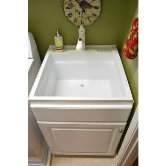 Lavabo para lavadero con gabinete   IDEAS PARA DECORAR