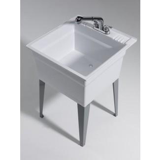 """Fregadero de lavandería independiente de 23.75 """"x 25.25"""" con grifo"""