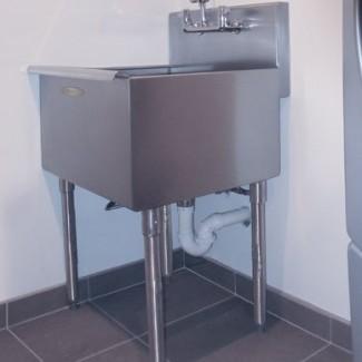 Fregadero de lavandería independiente de 24 '' x 21 ''