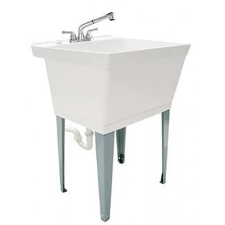 LDR Industries 040 6000 Completo, tina de servicio de lavandería de 19 gal con grifo extraíble
