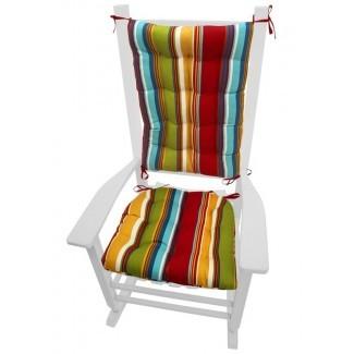 Cojín costero para silla mecedora interior / exterior