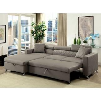 Dayna CM6292 Sofá composable gris con cama extraíble