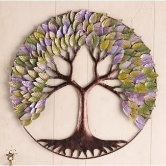 Decoración circular de la pared del árbol de la vida