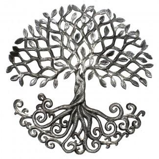 Decoración de la pared del árbol de la vida enraizada