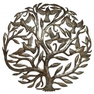 Decoración de pared tradicional 'Tree of Life with Birds'