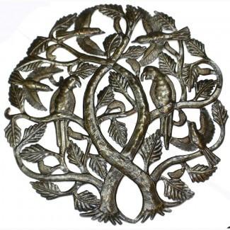 Decoración de pared de metal tradicional 'Tree of Life'