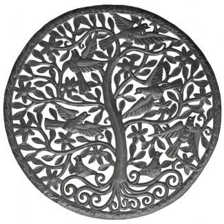 Decoración de pared redonda grande del árbol de la vida