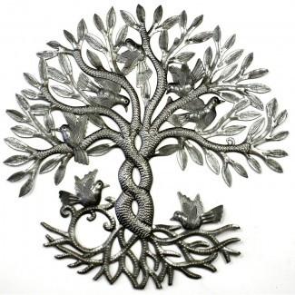 Decoración de pared de metal entrelazada Tree of Life