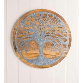 Decoración de pared de madera y metal Tree of Life </div> </p></div> <div class=