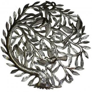 Decoración de pared de metal hecha a mano 'Tree of Life'