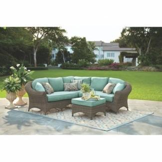 Muebles de mimbre para exteriores Martha Stewart - Ideas de muebles