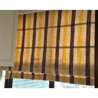 Tonos romanos modernos de lino / algodón a rayas multicolores para ...