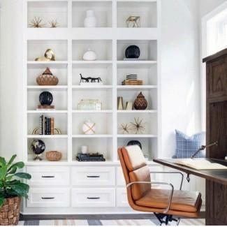 Las 70 mejores ideas de estanterías de piso a techo - Pared