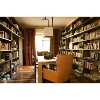 estanterías de piso a techo Home Office Modern con ...