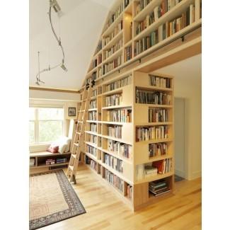 Estanterías de piso a techo - Construcción de viviendas fina
