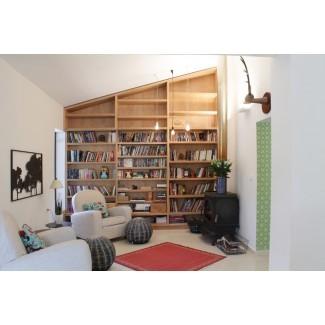 estanterías de suelo a techo-comedor-contemporáneo-con ...