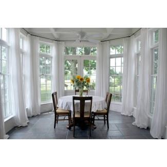 Comedor cortinas de la ventana de la bahía comedor tradicional ...