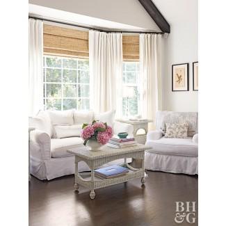 Ideas para el tratamiento de la ventana de la bahía y el arco | Better Homes &