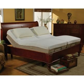 Marco de cama de metal ajustable tamaño Queen informal SOLAMENTE (No