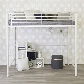 Cama de metal loft de tamaño completo para muebles WE