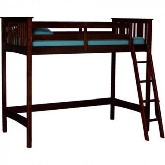 Canwood Base Camp Loft Twin XL Bed, Espresso -