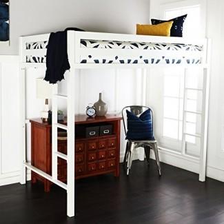 Muebles decorativos para el hogar Nueva cama loft Premium Deluxe de metal doble en color blanco