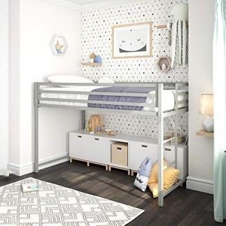 """DHP Miles Full Metal Bed [19659012] Esta elegante cama con estructura de metal es ideal para un loft o dormitorio de estilo industrial. Tiene dimensiones de 77 """"L x 56"""" W x 46 """"H y puede manejar un límite de peso de hasta 450 libras, gracias al metal resistente listones y riel central para soporte. </div> </p></div> <div class="""