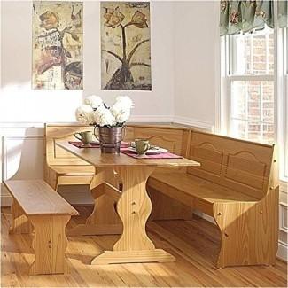 Juego de mesa de rincón de desayuno Pemberly Row en color natural