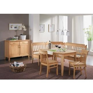 mesa de comedor de madera maciza cabina de banco de esquina para desayunador  