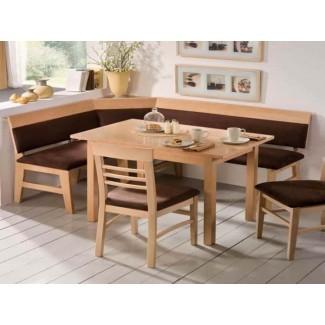 mesa de rincón de desayuno con mesa de banco barata ...