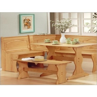 Juego de mesa de cocina de esquina para apartamentos pequeños Diseño de muebles