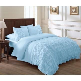 Blue Ruffle Bedding Sets