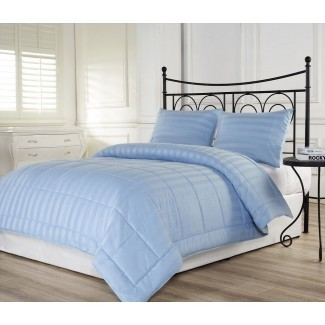 3pcs Dobby Stripe Down Alternative Lightweight Comforter ...