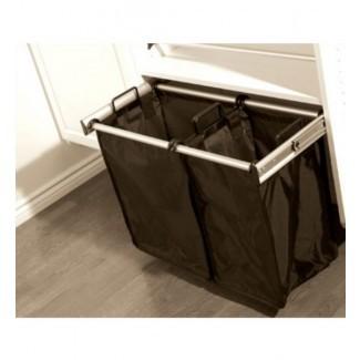 Cesto de lavandería doble extraíble de 30 pulgadas en armario personalizado ...