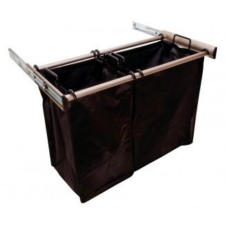 30 pulgadas extraíble doble cesta de lavandería en el armario personalizado ...