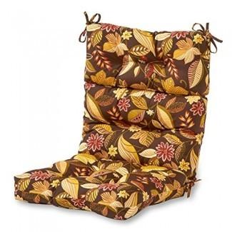 Greendale Home Fashions Cojín para silla con respaldo alto para interior / exterior, Timberland Floral