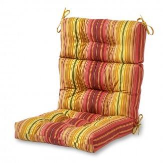 Greendale Home Fashions Cojín de silla para exterior con respaldo alto ...