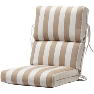 Bullnose High-Back Cojín de silla para exterior - Cojines de comedor ...