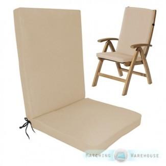 Cojín de cojín para silla de comedor Highback Garden Muebles de exterior ...